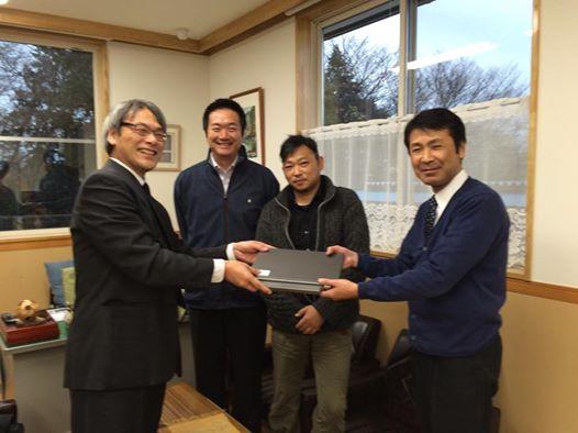 I Tで日本を元気に‼ の活動で七ヶ浜町社協山元町社協 さんにPCを届けて来ました。1