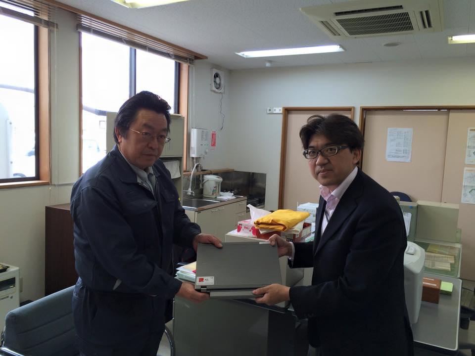 白石社協さんにPCとプリンターを届けてきました。1