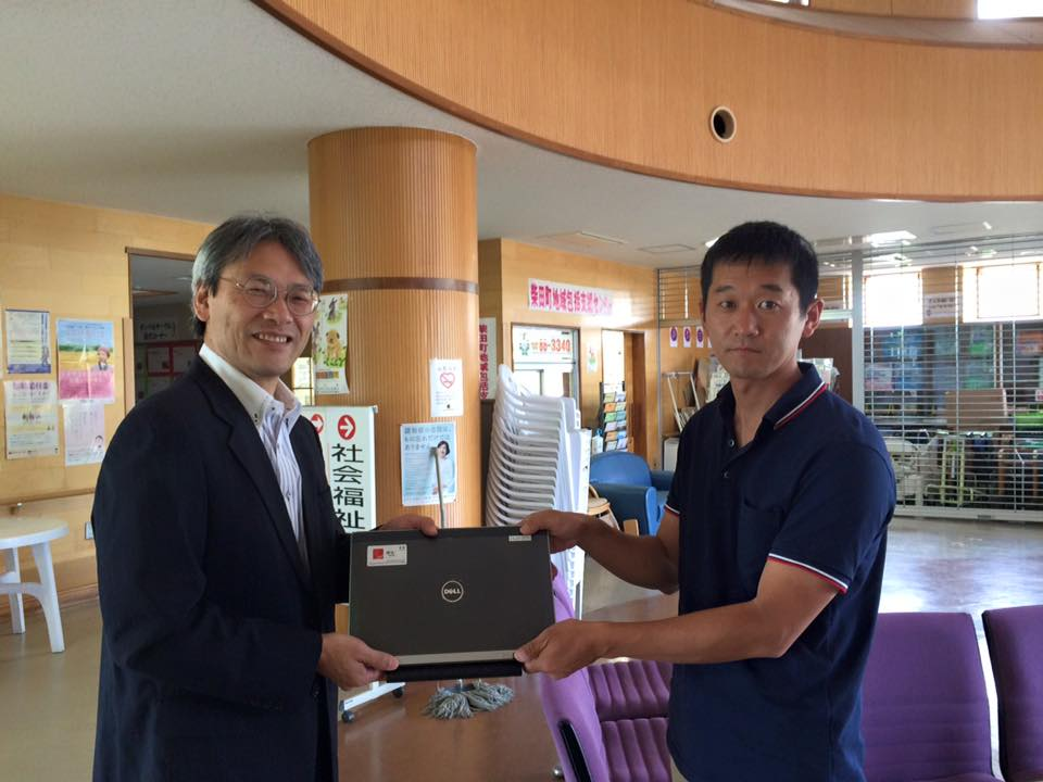 柴田町社協さんにPCを寄贈しました。2