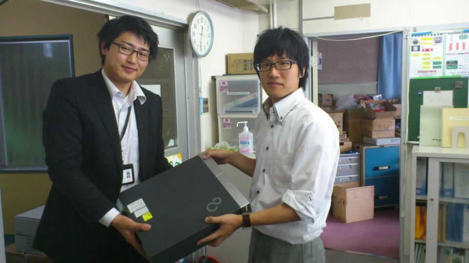 ITで日本を元気に!! の活動で気仙沼市役所にデスクトップPC6台を寄贈してきました。